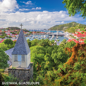 Bridgetown, Barbados; St George's, Grenada; Bequia Island, Saint Vincent and the Grenadines; Fort-de-France, Martinique; Roseau, Dominica; Falmouth, Antigua and Barbuda; Philipsburg, St. Maarten; Gustavia, Guadelope; Road Town, British Virgin Islands; San Juan, Puerto Rico