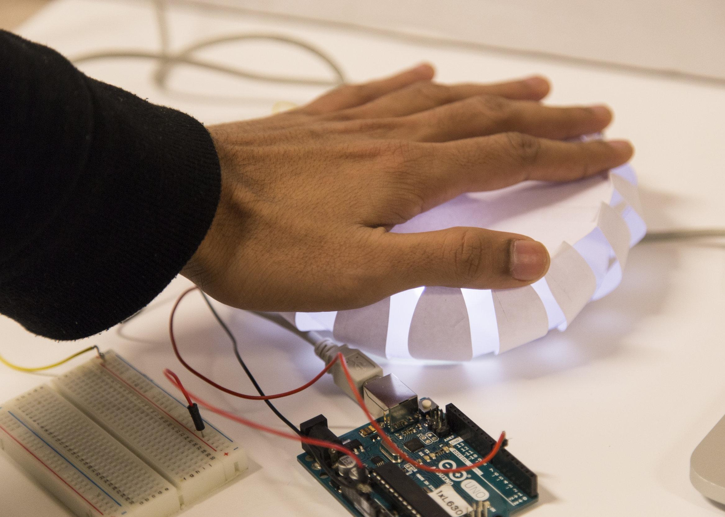 Light and haptic feedback