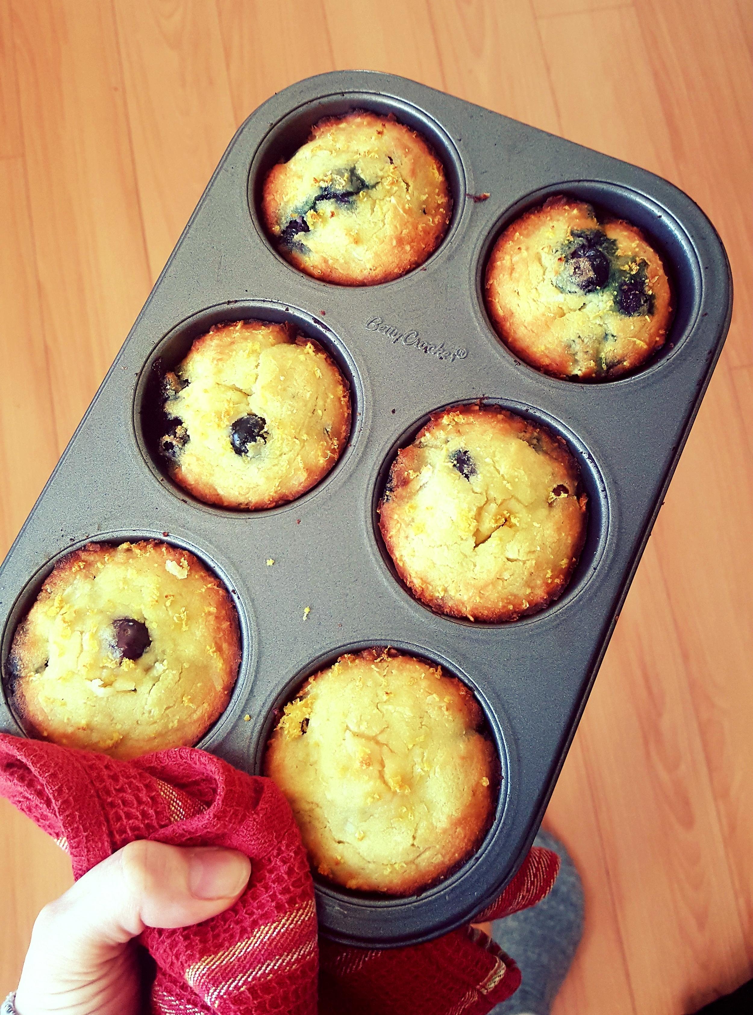 Blueberry & Lemon Muffins - Add local blueberries & organic lemon zest!
