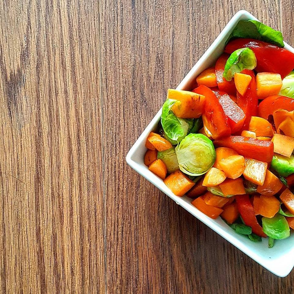 Sweet Potato & Brussel Sprout Salad - these are complex carbs!