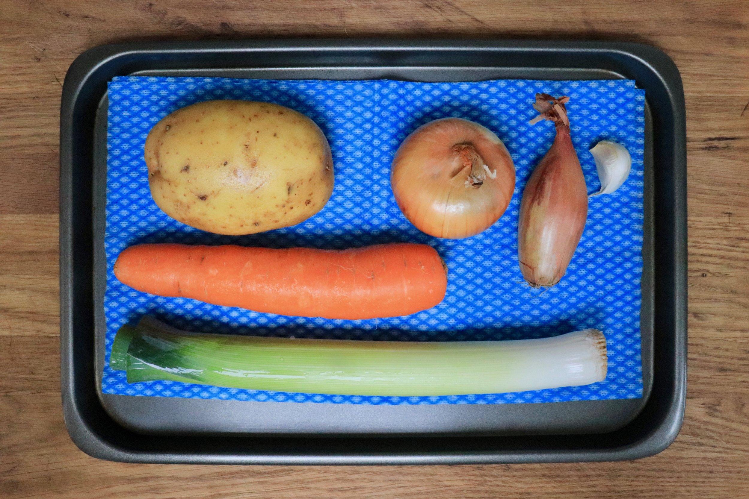 Washed vegetables