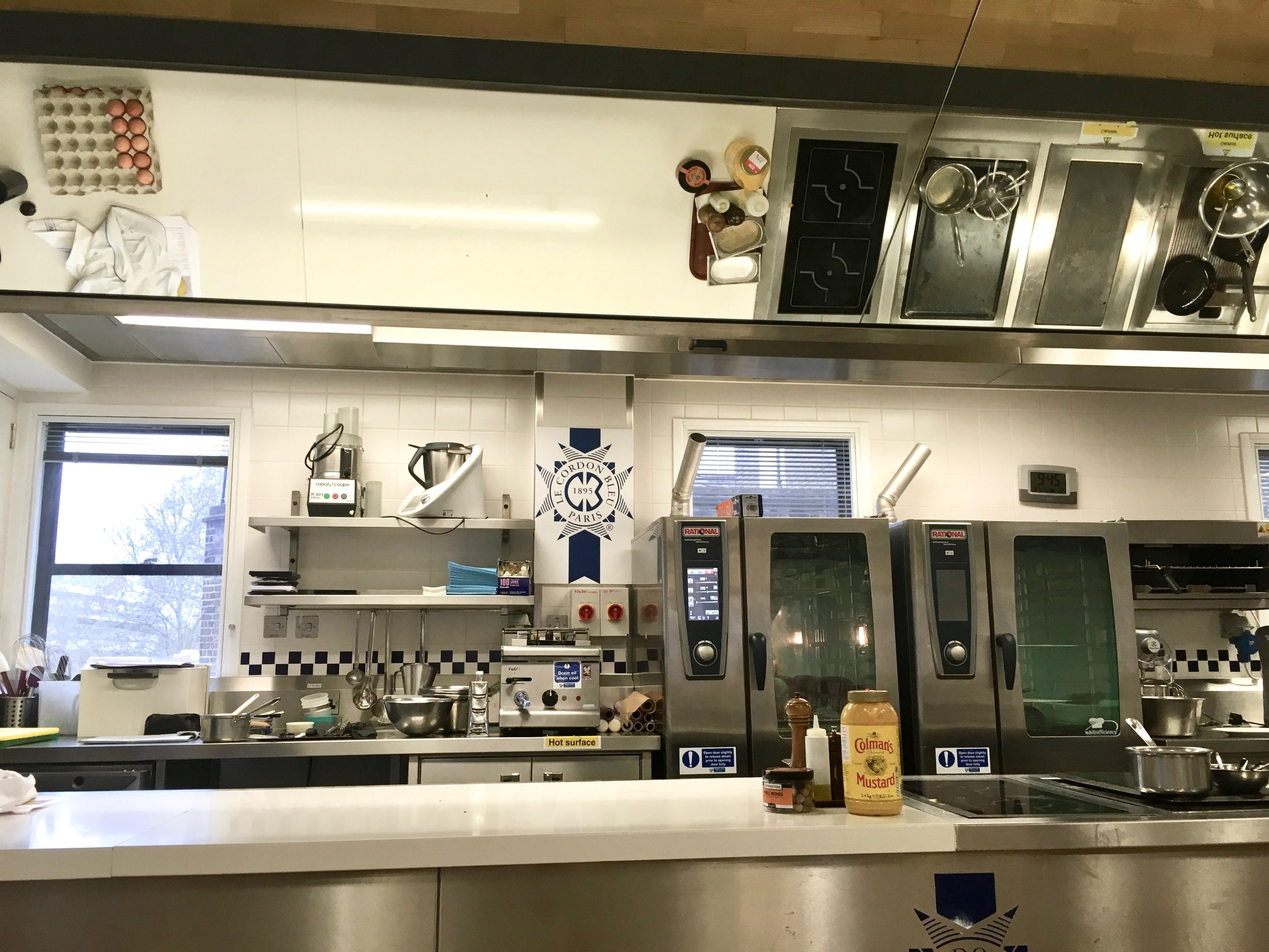 A demo kitchen at Le Cordon Bleu, London