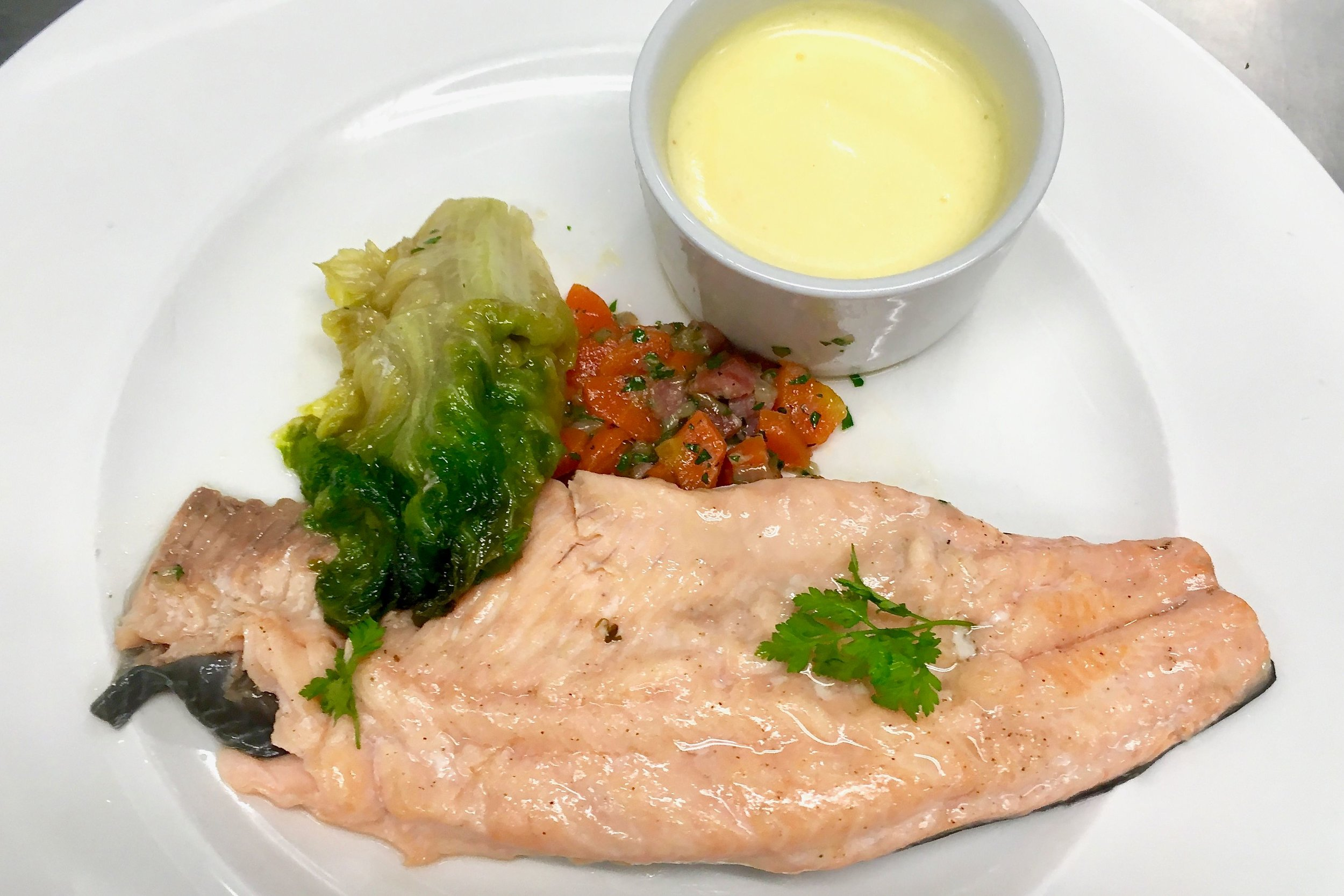 My trout after tasting