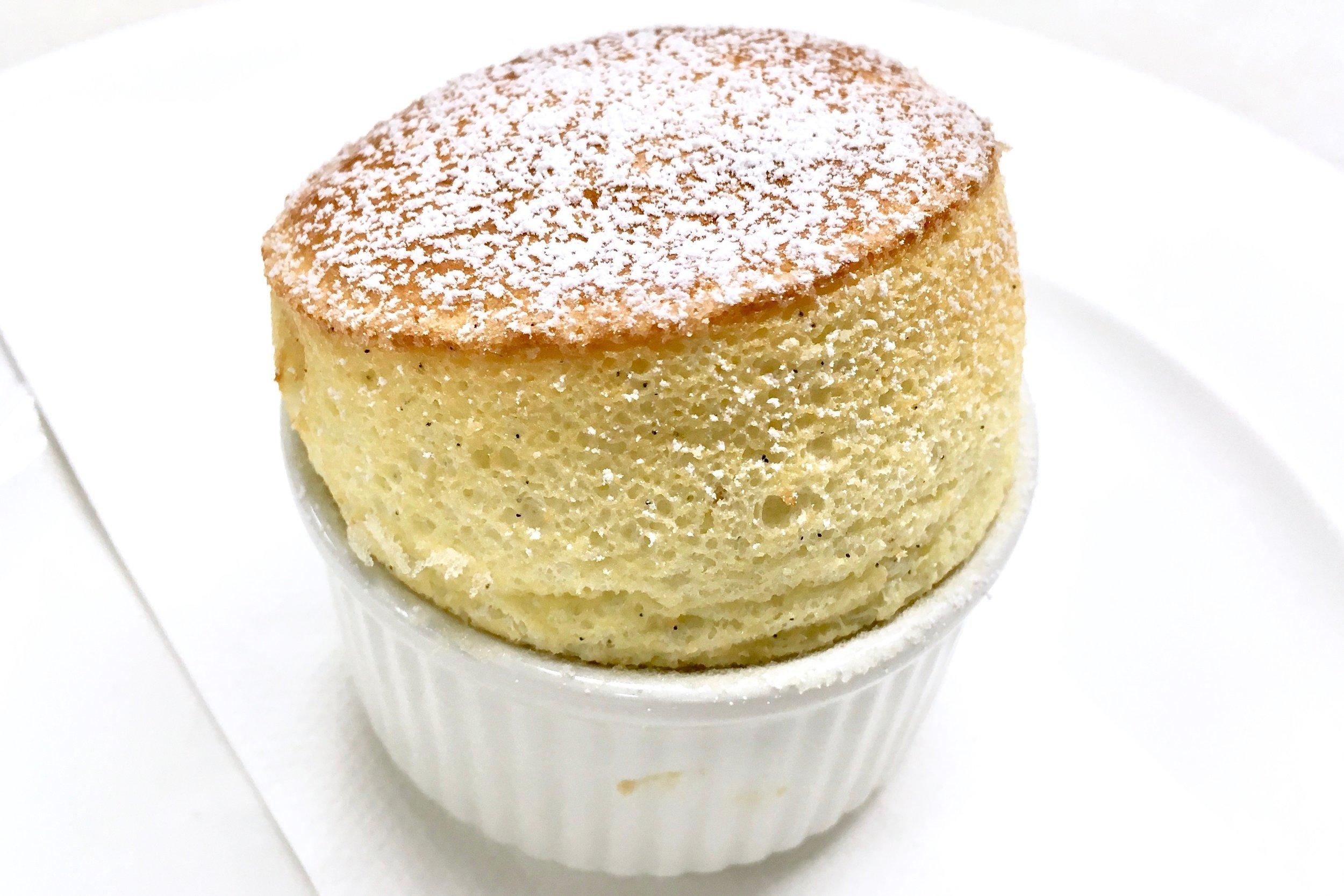 Hot vanilla soufflé