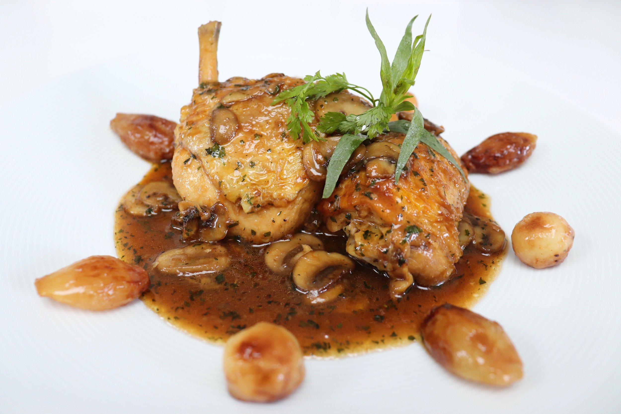 Pan-fried chicken Champeaux