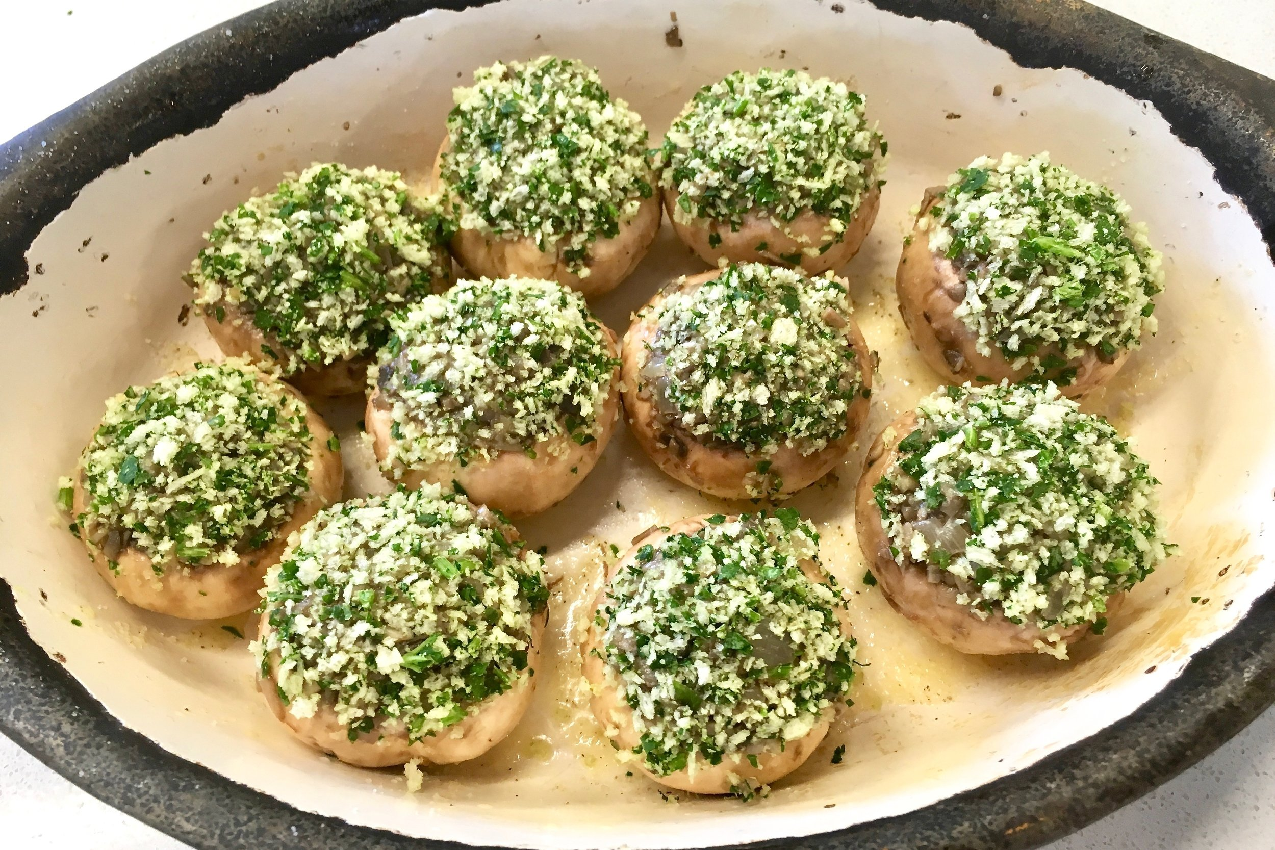 Stuffed Paris mushrooms