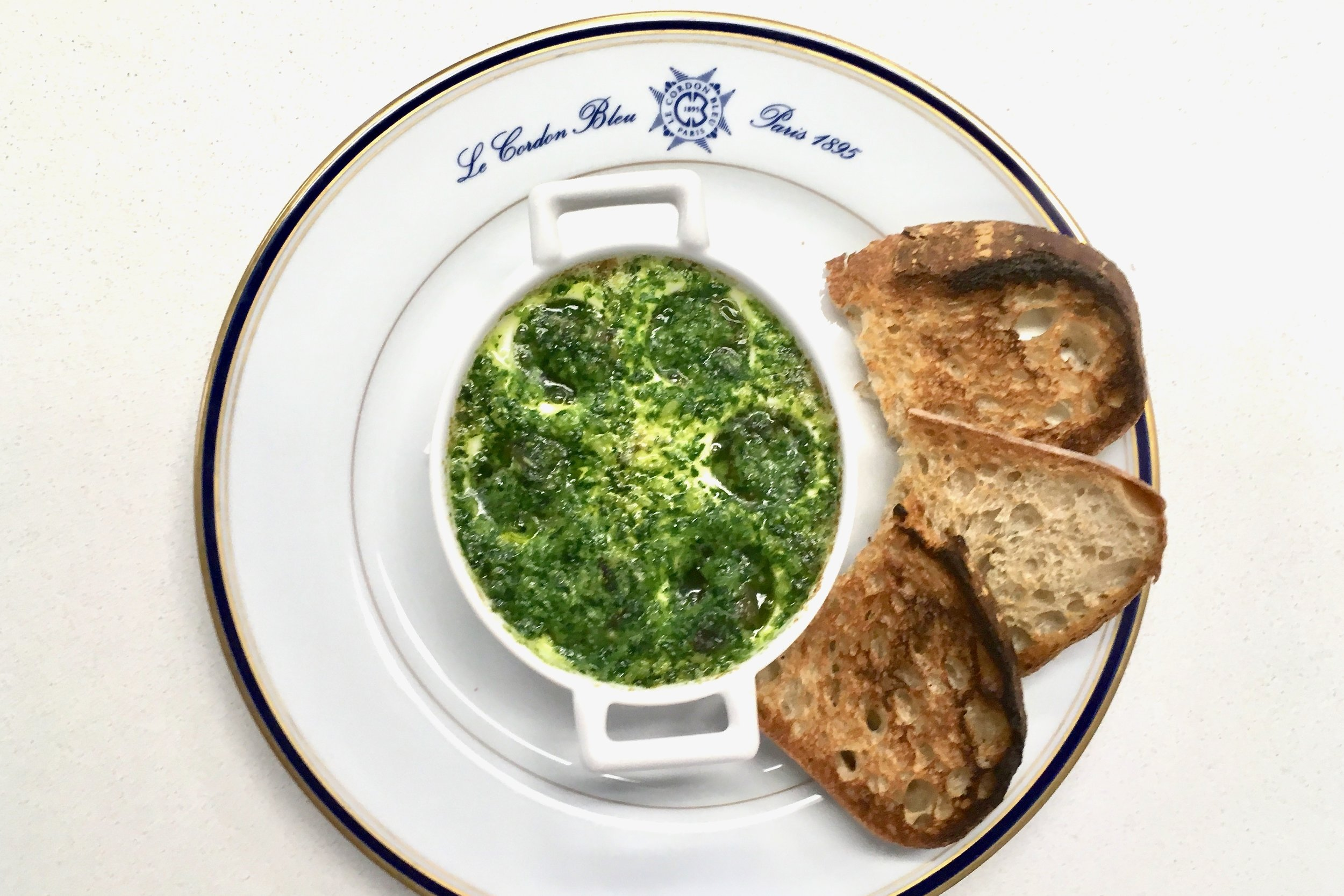 Snails in garlic and parsley butter