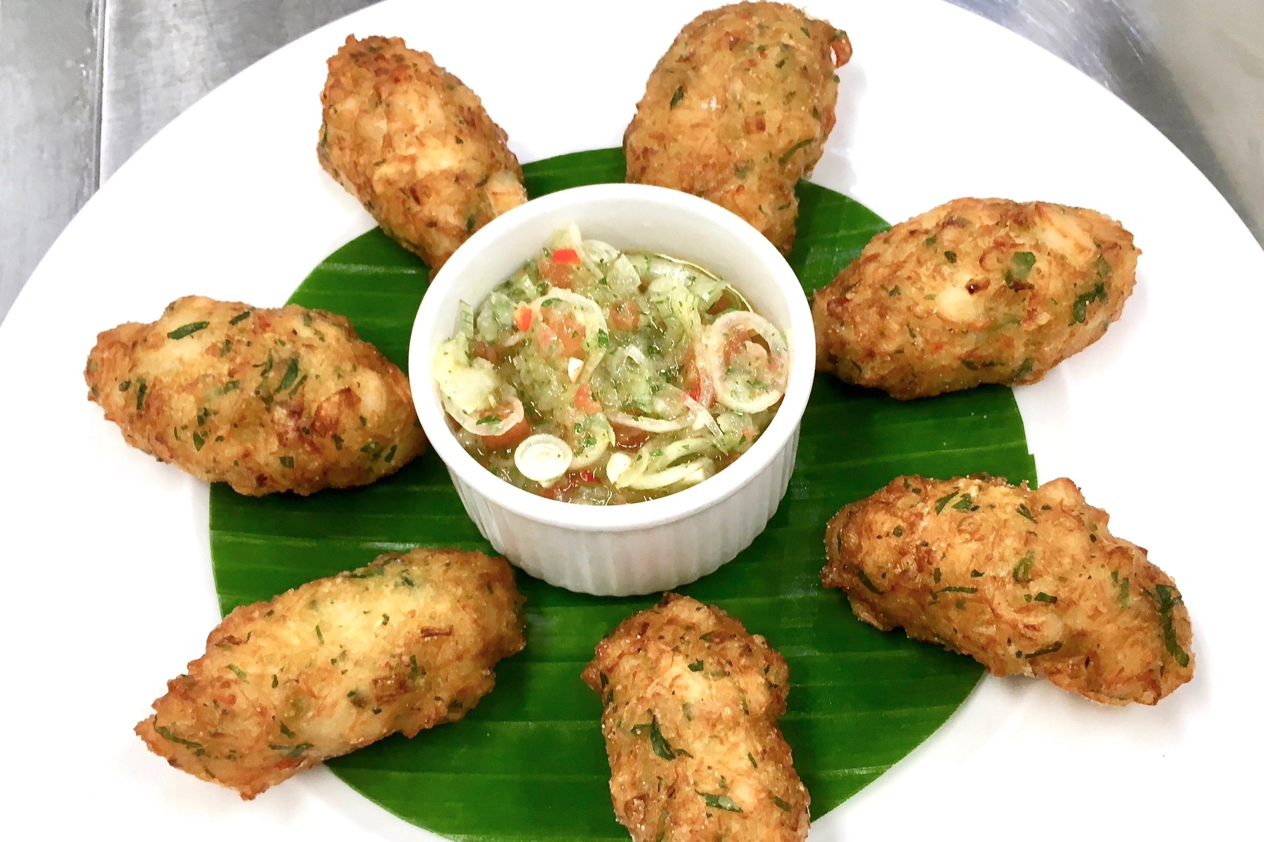 Salt cod fritters with Accras