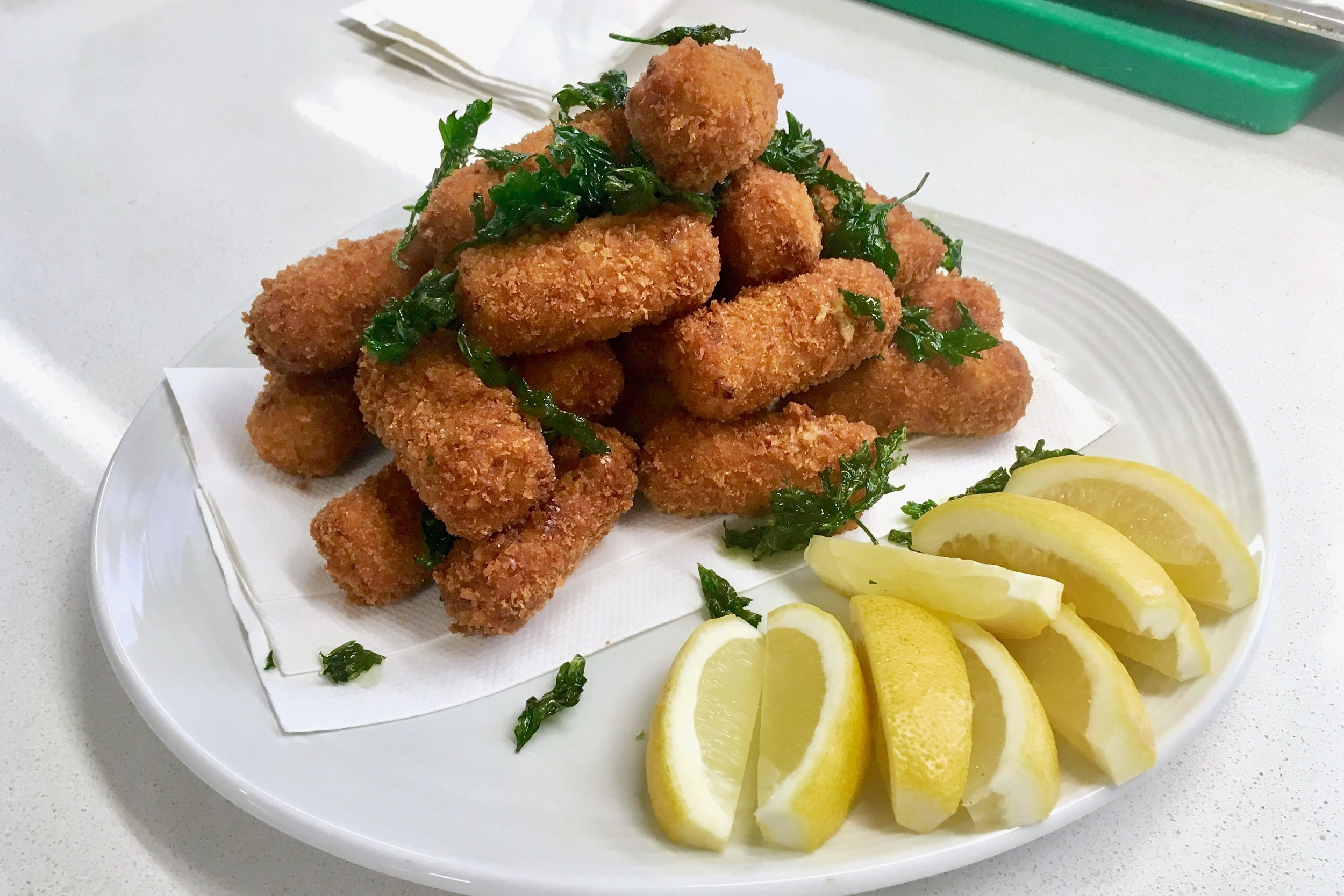 Ostende-style brown shrimp croquettes