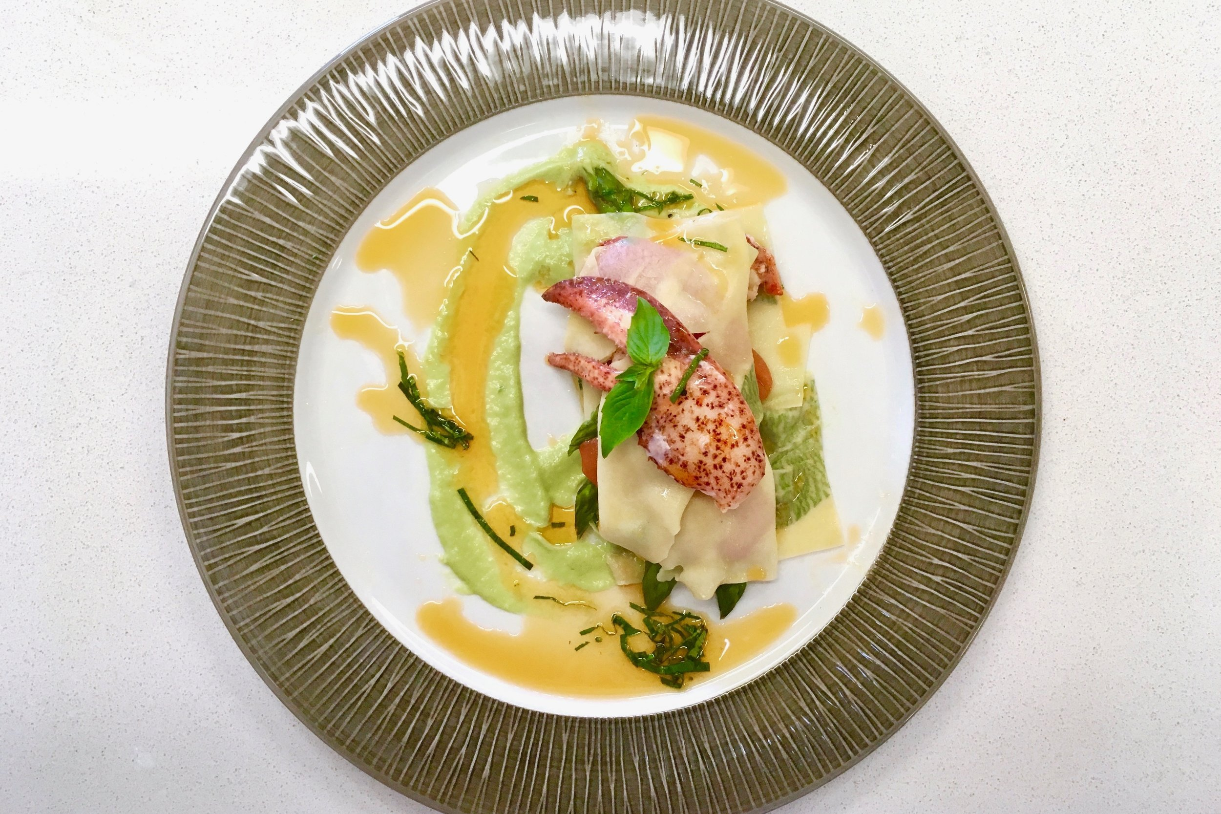 Chef's open lasagne of lobster