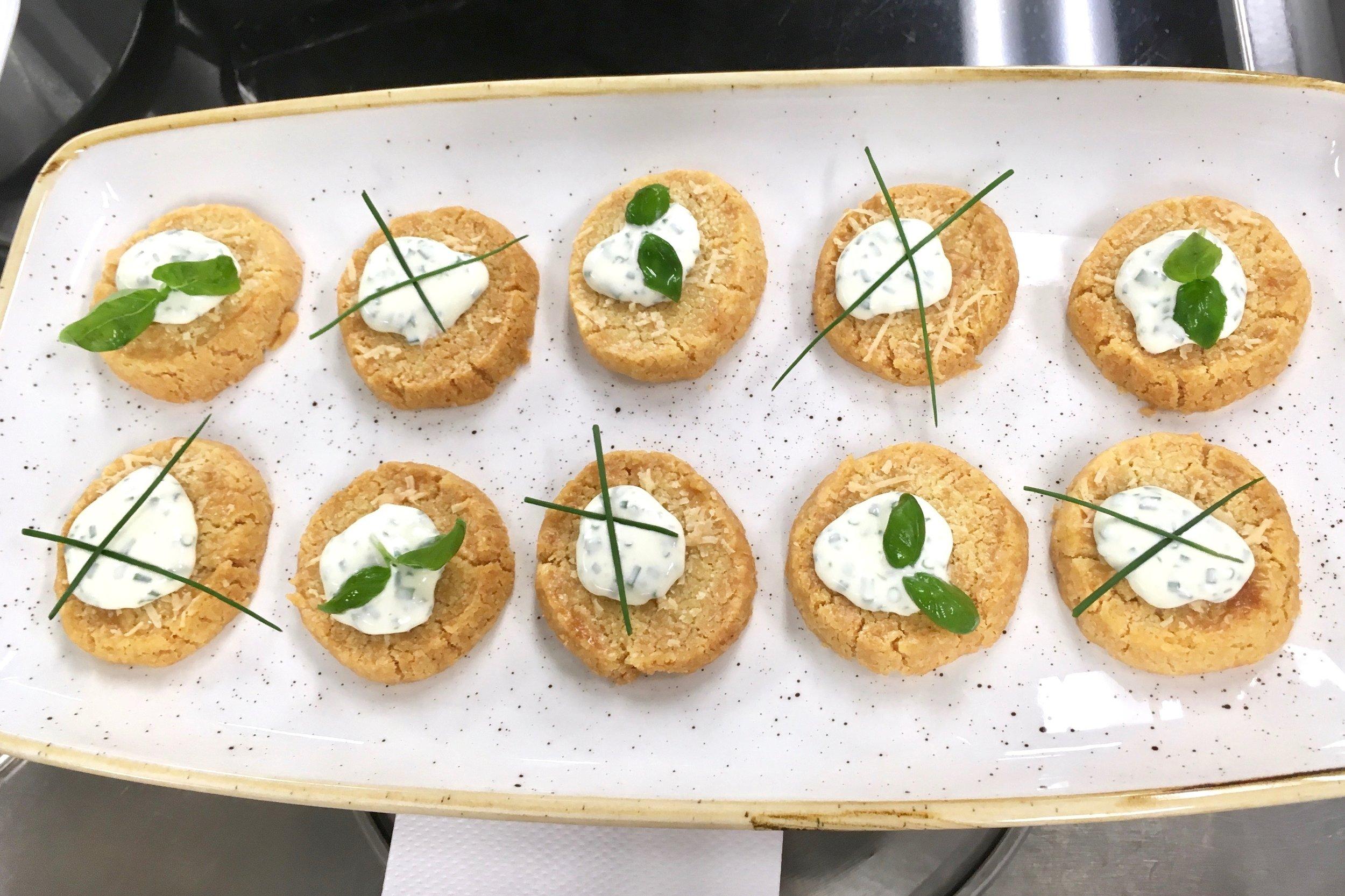 Parmesan sablé biscuits