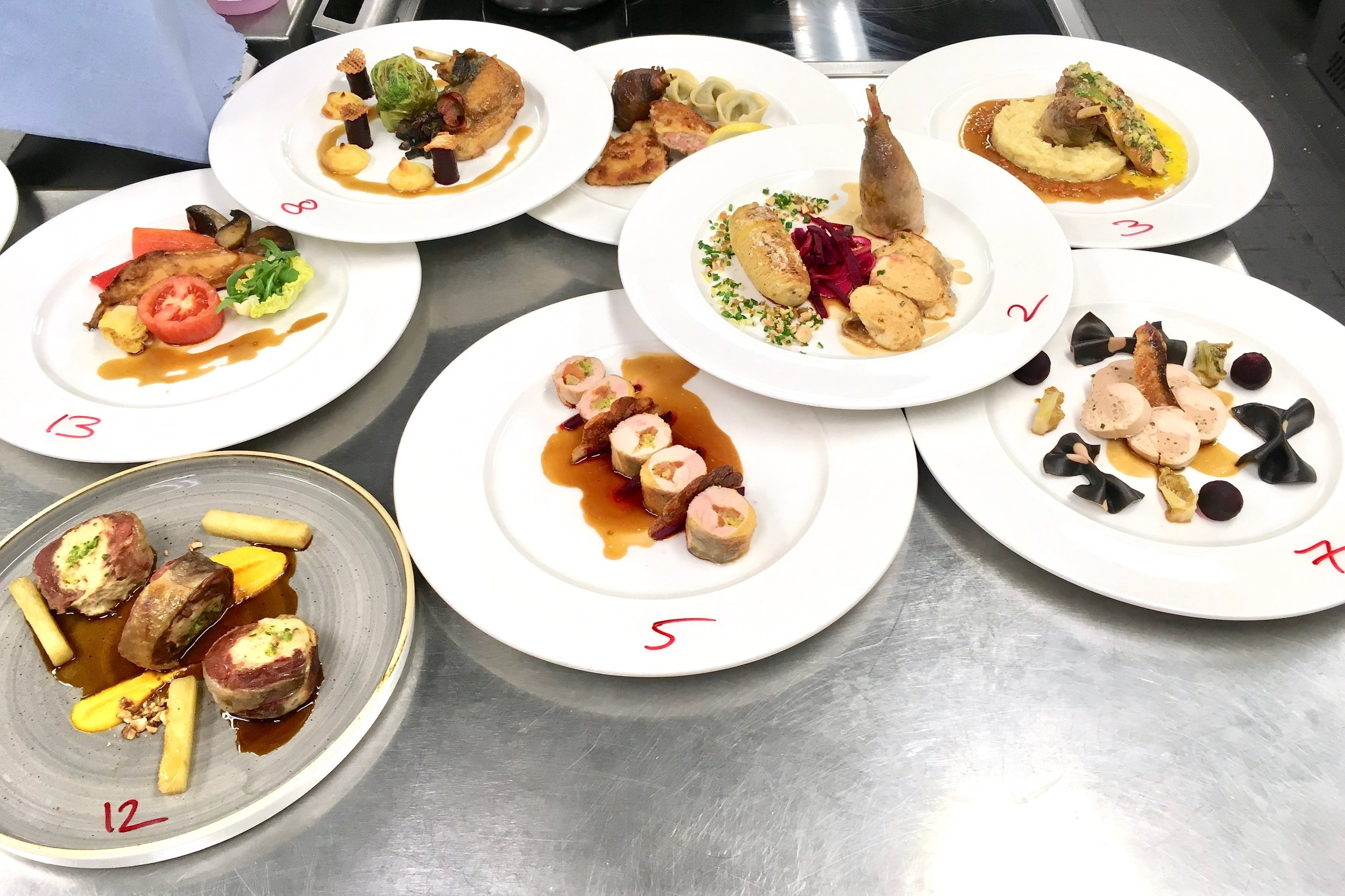 More main courses from Group C