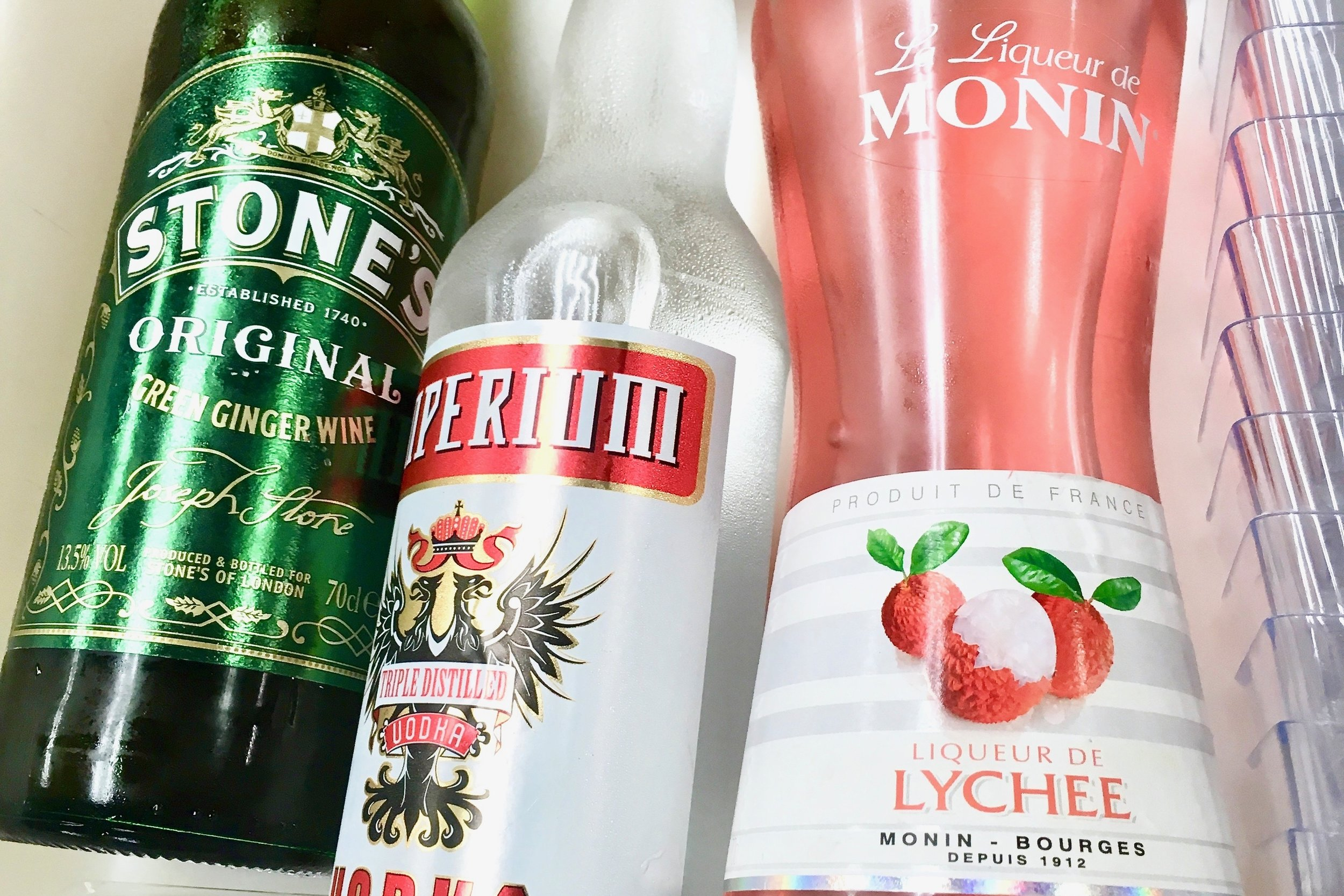 Ginger wine, vodka and lychee liqueur