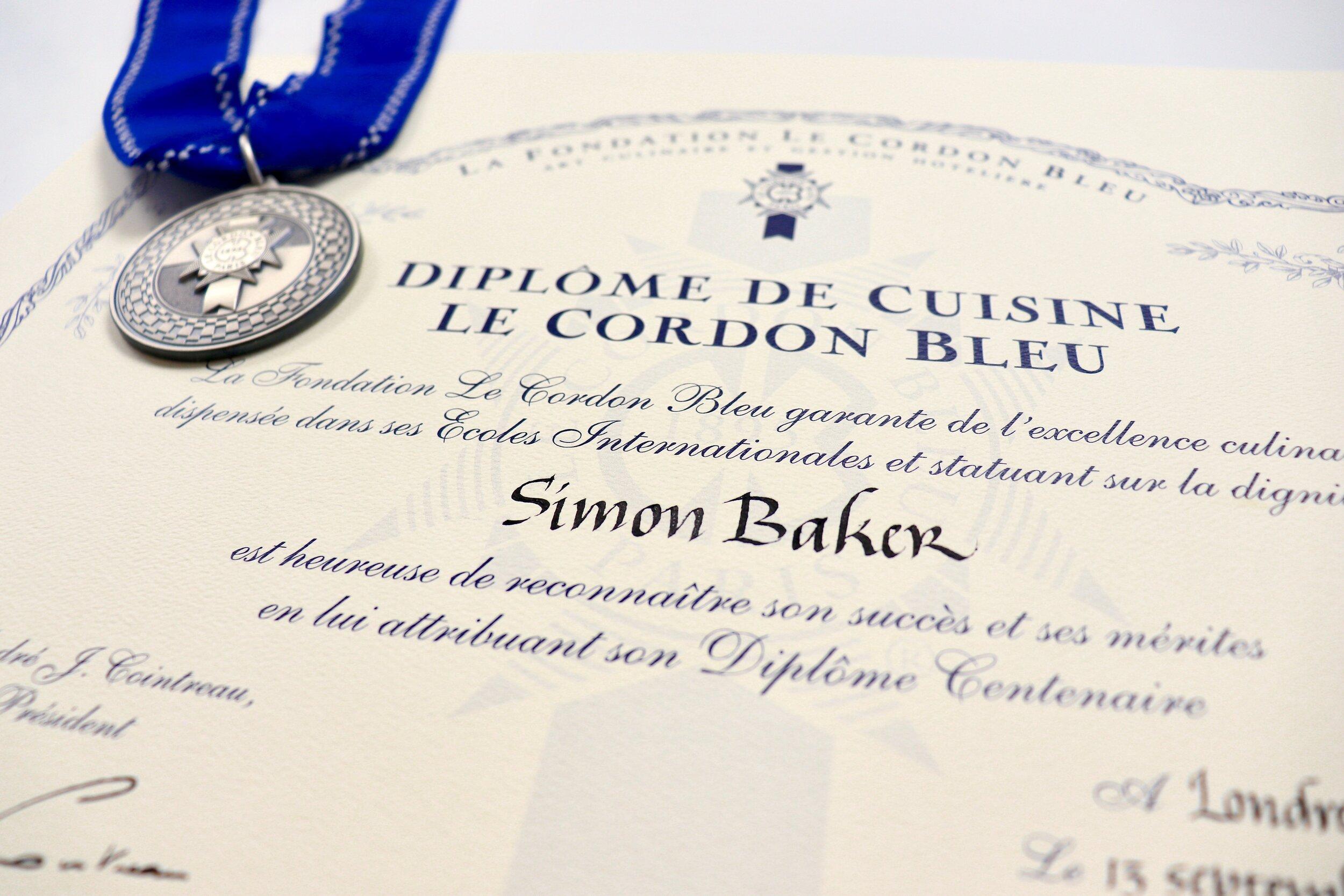My very own Diplôme de Cuisine from Le Cordon Bleu