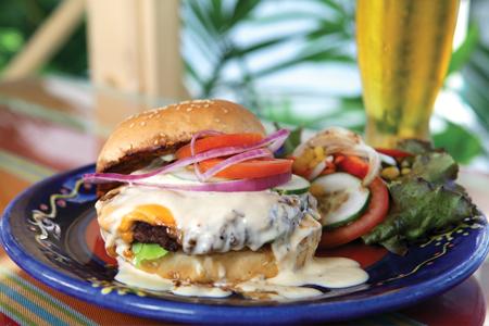 Café Sol Barbados Burger