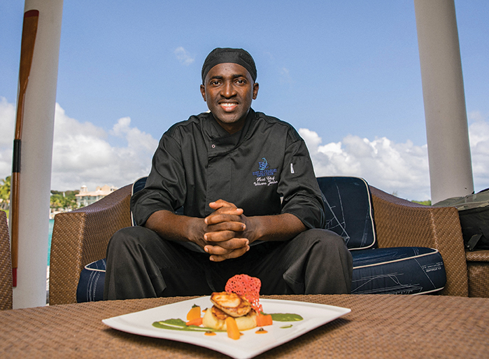 Chef Wilwore Jordan of the Port St. Charles Yacht Club
