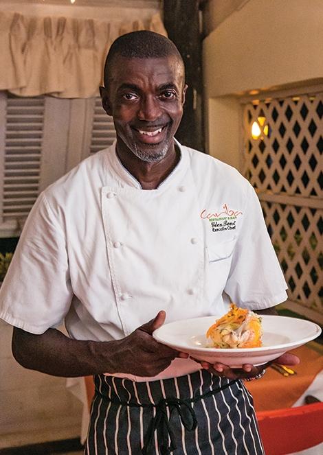 Executive Chef / Owner Glen Bent of  Cariba Restaurant & Bar