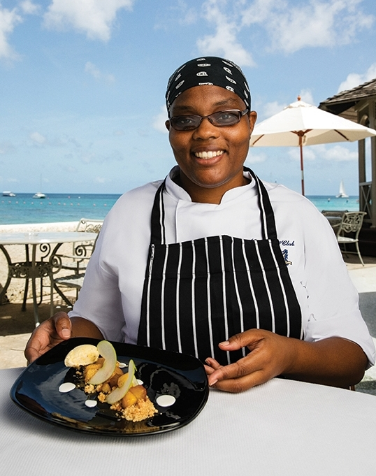 Pastry Chef Alicia Olton of the Coral Reef Club Barbados