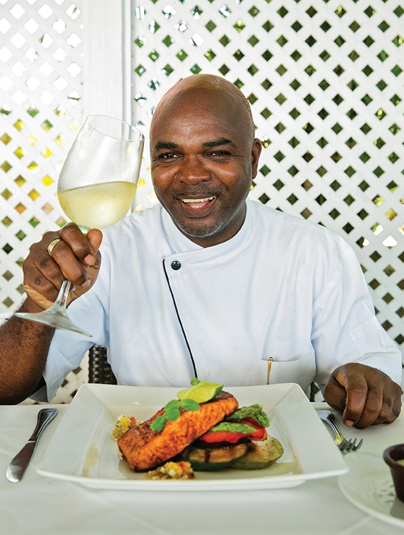Chef Pedro Newton of  Champers Wine Bar & Restaurant