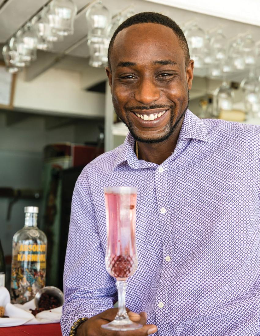 Mixologist David Barker of  Tapas Barbados