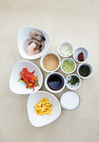 Ingredients - Caribbean Shrimp Curry with Coconut Milk and Green Plantains