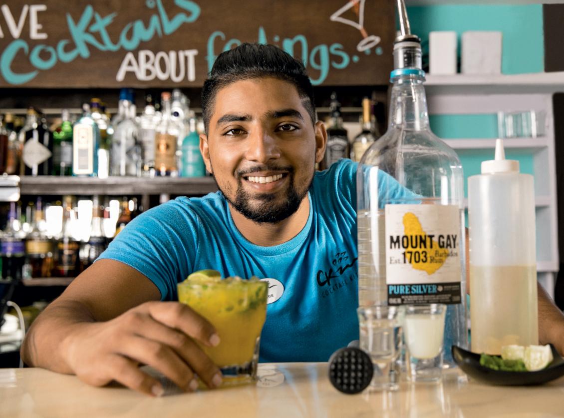 Barbados Restaurants | Cocktail Kitchen | bartender Christopher Alleyne