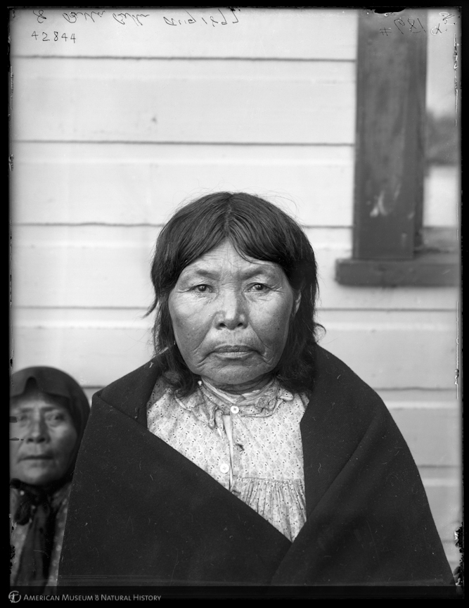 """""""Woman, Bella Bella, British Columbia, [1897],"""" ID: 42844.Courtesy of American Museum of Natural History Library http://images.library.amnh.org"""