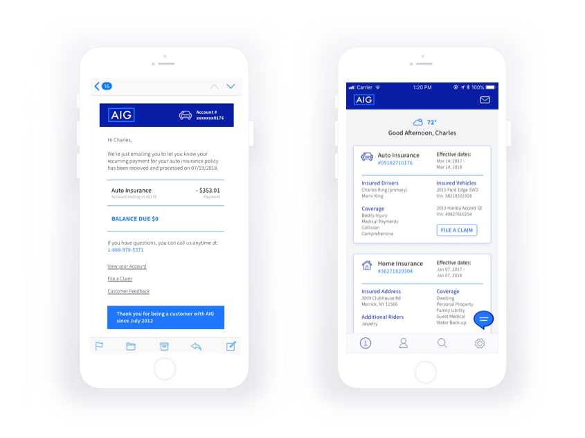 AIG – Wireframes and User Experience Design