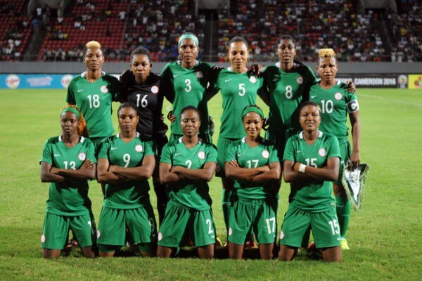 Nigeria Women before they play FIFA match against France Women's National team