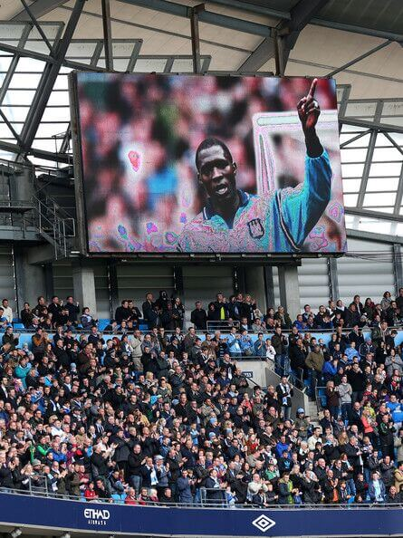 The late Cameroon International player Marc-Vivien Foe is honored in Ligue 1