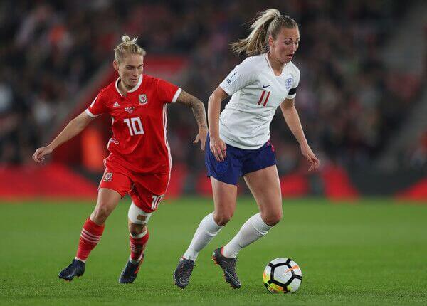 Tony Duggan playing with England Women ahead of the 2019 World Cup