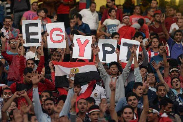Egypt National Team Celebrates Mohamed Salah Goal