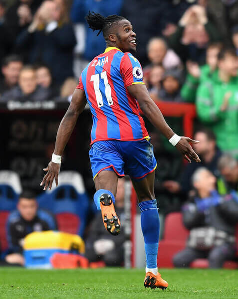 Wilfried Zaha leads Crystal Palace FC to victory against Leicester City FC in English Premier League
