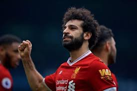 Mohamed Salah in action for Liverpool FC in UEFA Champions League