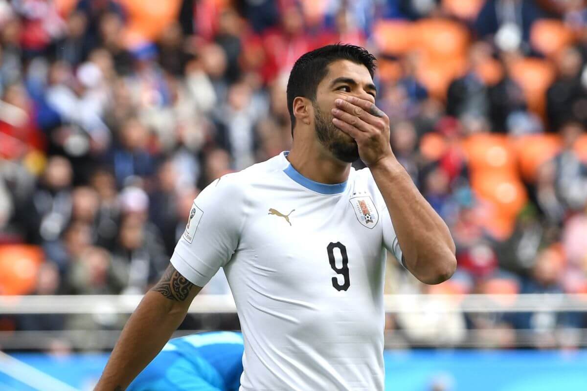 Mohamed Salah could only watch from the bench as Luis Suarez and Uruguay stole 3 points with a late goal in the second match of Group A at the World Cup 2018 in Russia.