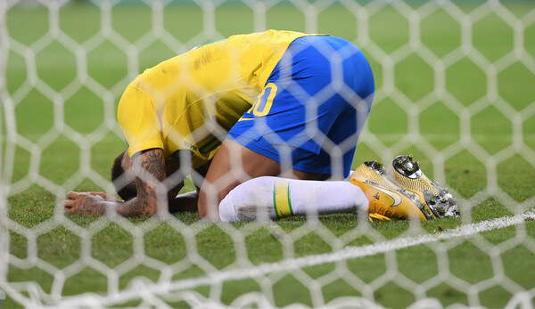 Neymar of Brazil reacts after a missed opportunity during the 2018 FIFA World Cup Russia Quarter Final match between Brazil and Belguim at Kazan Arena on July 6, 2018 in Kazan, Russia.  (July 5, 2018 - Source: Laurence Griffiths/Getty Images Europe)