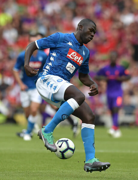 Kalidou Koulibaly of S.S.C Napoli during the international friendly game between Liverpool and Napoli at Aviva Stadium on August 4, 2018 in Dublin, Ireland.  (Aug. 3, 2018 - Source: Charles McQuillan/Getty Images Europe)