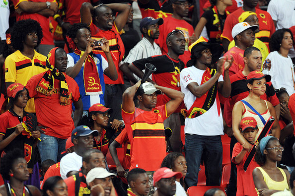 Angola fans dejected during the Africa Cup of Nations Quarter Final match between Angola and Ghana from the November 11 Stadium on January 24, 2010 in Luanda, Angola.  (Jan. 23, 2010 - Source: Gallo Images/Getty Images Europe)