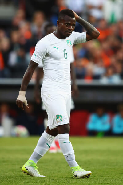 Jean Michael Seri of the Ivory Coast in action during the International Friendly match between the Netherlands and Ivory Coast held at De Kuip or Stadion Feijenoord on June 4, 2017 in Rotterdam, Netherlands.  (June 3, 2017 - Source: Dean Mouhtaropoulos/Getty Images Europe)