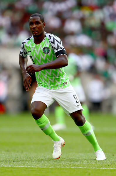 Odion Ighalo of Nigeria the International Friendly between England and Nigeria at Wembley Stadium on June 2, 2018 in London, England.  (June 1, 2018 - Source: Clive Rose/Getty Images Europe)