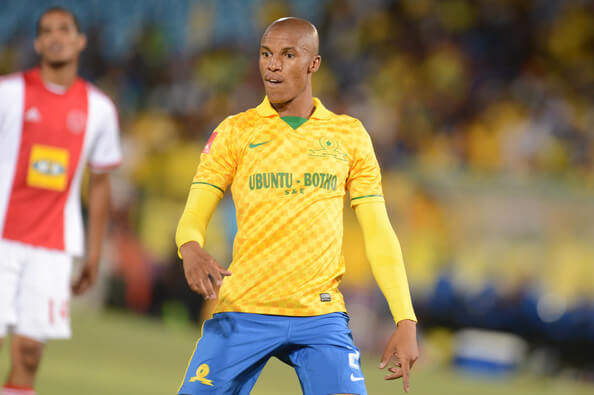 Thabo Nthethe during the Absa Premiership match between Mamelodi Sundowns and Ajax Cape Town at Loftus Stadium on February 15, 2014 in Pretoria, South Africa.  (Feb. 14, 2014 - Source: Gallo Images/Getty Images Europe)