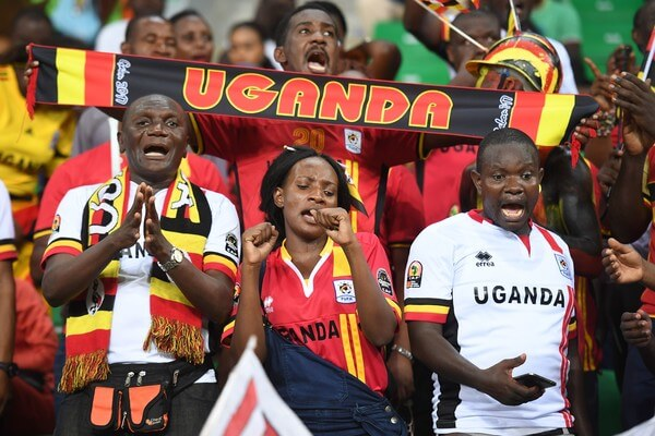Uganda supporters cheer ahead of the 2017 Africa Cup of Nations group D football match between Egypt and Uganda in Port-Gentil on January 21, 2017. / AFP / Justin TALLIS  (Jan. 20, 2017 - Source: AFP)