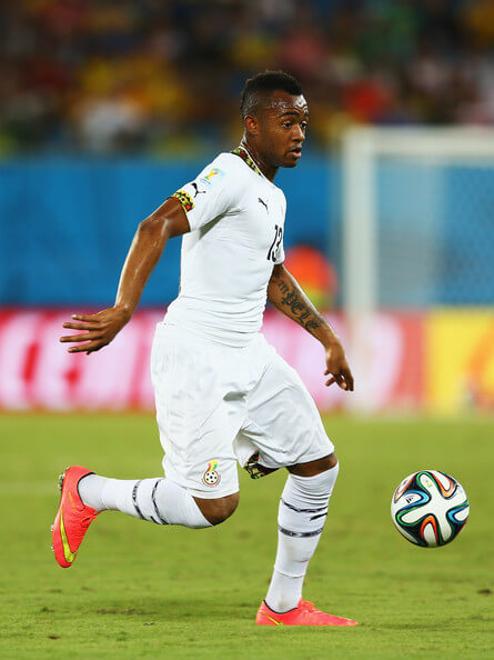 Jordan Ayew of Ghana controls the ball during the 2014 FIFA World Cup Brazil Group G match between Ghana and the United States at Estadio das Dunas on June 16, 2014 in Natal, Brazil.  (June 15, 2014 - Source: Michael Steele/Getty Images South America)