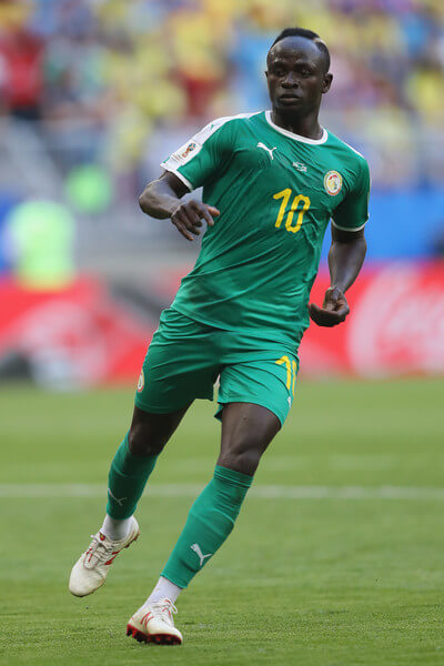 Sadio Mane of Senegal during the 2018 FIFA World Cup Russia group H match between Senegal and Colombia at Samara Arena on June 28, 2018 in Samara, Russia.  (June 27, 2018 - Source: Michael Steele/Getty Images Europe)