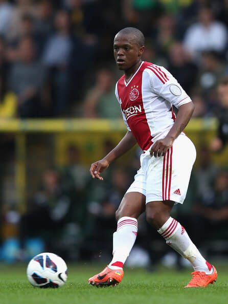 Thulani Serero of Ajax in action during the pre-season friendly match between Norwich City and Ajax at Carrow Road on July 31, 2012 in Norwich, England.  (July 30, 2012 - Source: Mark Thompson/Getty Images Europe)