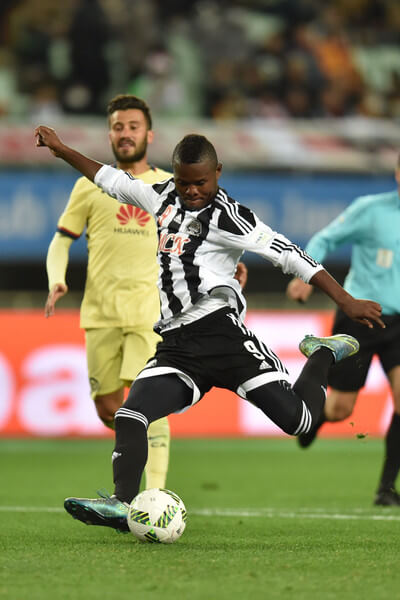 Mbwana Samatta of TP Mazembe in action during the FIFA Club World Cup fifth place match between Club America and TP Mazembe at Osaka Nagai Stadium on December 16, 2015 in Osaka, Japan.  (Dec. 15, 2015 - Source: Atsushi Tomura/Getty Images AsiaPac)