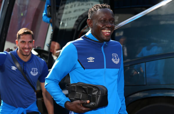Oumar Niasse of Everton arrives at the stadium prior to the Premier League match between Everton and Southampton at Goodison Park on May 5, 2018 in Liverpool, England.  (May 4, 2018 - Source: Alex Livesey/Getty Images Europe)