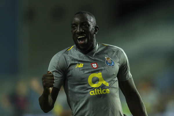 Moussa Marega of FC Porto celebrates scoring Porto goal in action during the match between FC Porto v Everton FC for Algarve Football Cup 2018 at Estadio do Algarve on July 22, 2018 in Faro, Portugal.  (July 21, 2018 - Source: Carlos Rodrigues/Getty Images Europe)