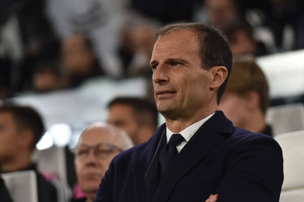 Head coach Massimiliano Allegri of Juventus looks on during the UEFA Champions League Round of 16 Second Leg match between Juventus and Club de Atletico Madrid at Allianz Stadium on March 12, 2019 in Turin, Italy.  (March 11, 2019 - Source: Getty Images Europe)