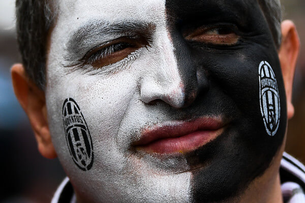 A Juventus fan enjoy the atmosphere prior to the UEFA Champions League Final between Juventus and Real Madrid at National Stadium of Wales on June 3, 2017 in Cardiff, Wales.  (June 2, 2017 - Source: David Ramos/Getty Images Europe)